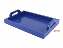 Moroccan Serving Tray. Contemporary. Wood. Handmade Hand Painted Majorelle Blue. (Ref. SWT11)